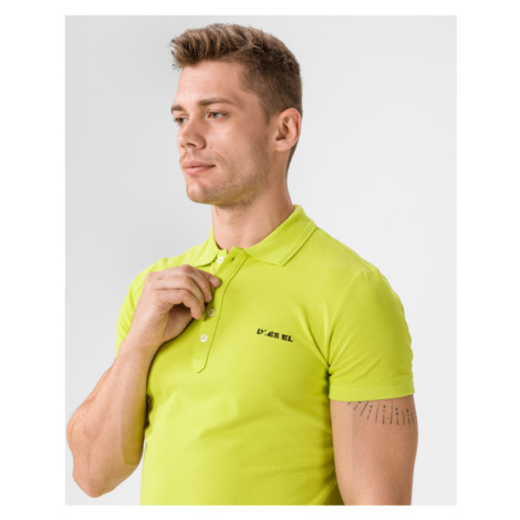Diesel Heal Broken Polo T-shirt Yellow