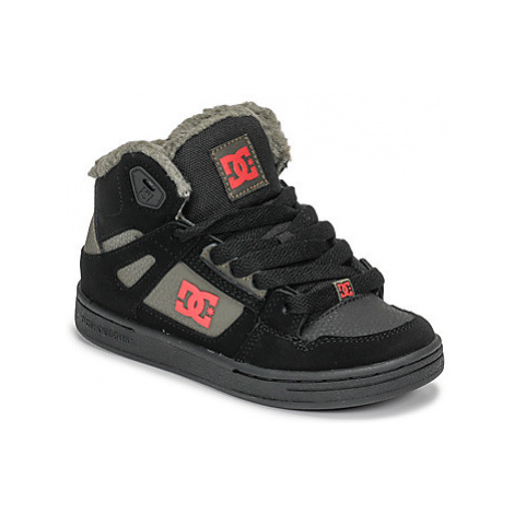 DC Shoes PURE HIGH-TOP WNT girls's Children's Shoes (High-top Trainers) in Black
