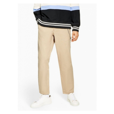 Mens Stone Twill Original Trousers, Stone Topman