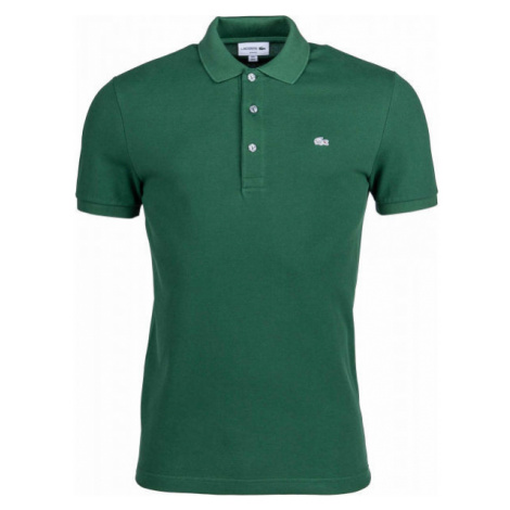 Lacoste SLIM SHORT SLEEVE POLO dark green - Men's polo shirt