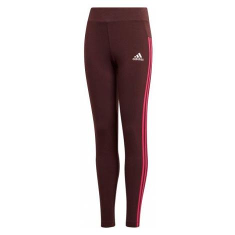 adidas 3S TIGHT red wine - Girls' leggings
