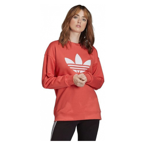 sweatshirt adidas Originals Trefoil Crew - Trace Scarlet/White - women´s