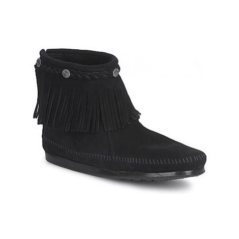 Minnetonka HI TOP BACK ZIP BOOT women's Mid Boots in Black