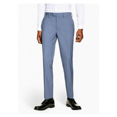 Mens Blue Slim Fit Suit Trousers, Blue Topman