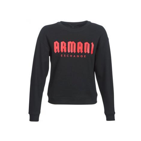 Armani Exchange HELBANI women's Sweatshirt in Black