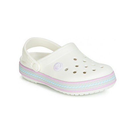 Crocs CROCBAND SPORT CORD CLOG K girls's Children's Clogs (Shoes) in White