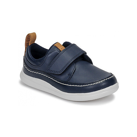 Clarks Cloud Ember T boys's Children's Casual Shoes in Blue