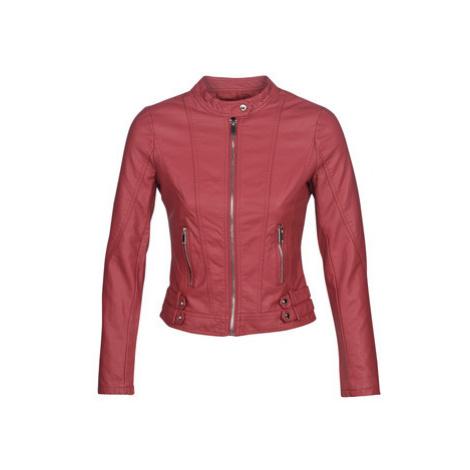 Moony Mood KOUJU women's Leather jacket in Red