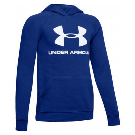 Under Armour RIVAL LOGO HOODY blue - Boys' hoodie