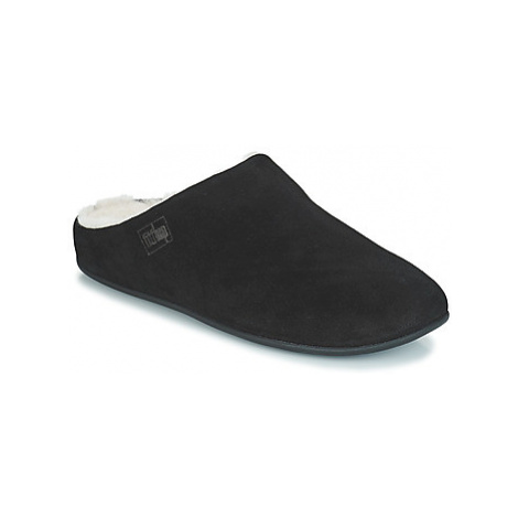 FitFlop CHRISSIE SHEARLING women's Slippers in Black