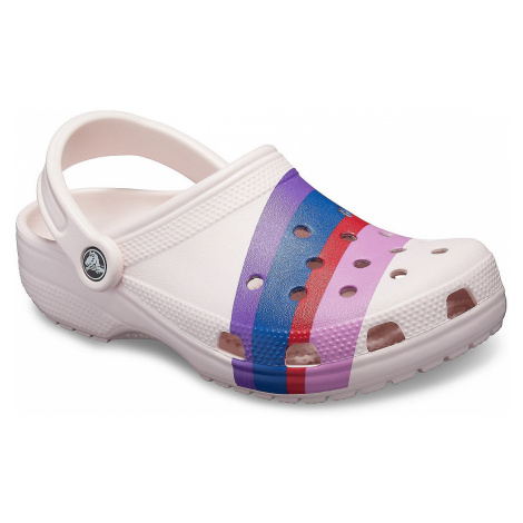 shoes Crocs Classic Seasonal Graphic Clog - Barely Pink/Multi - women´s