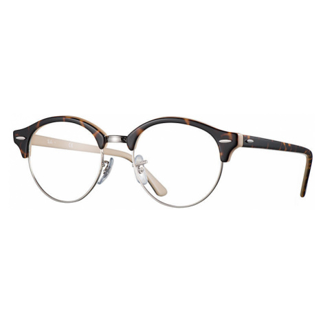 Ray-Ban Clubround optics Unisex Optical Lenses: Multicolor, Frame: Tortoise - RB4246V 5239 49-19