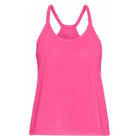 Under Armour WHISPERLIGHT TANK FOLDOVER pink - Women's tank top