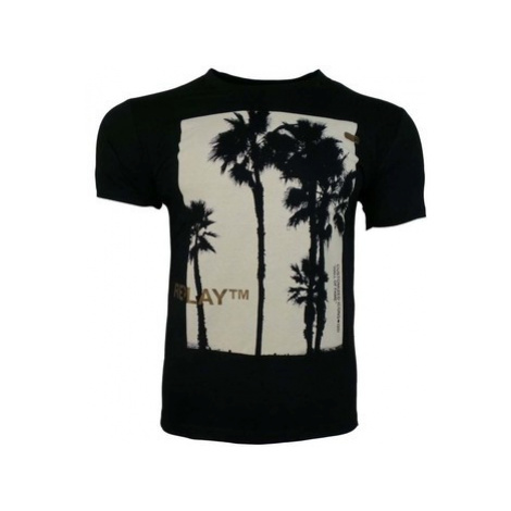 Replay Palm Tree 2 Tee men's T shirt in Black
