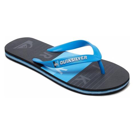 flip flops Quiksilver Molokai Word Block - XBKB/Blue/Black/Blue - boy´s