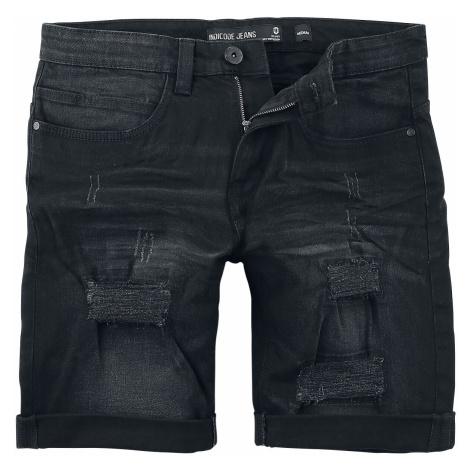 Indicode Kaden Holes Shorts black