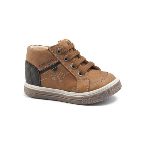 Catimini PASCOU boys's Children's Shoes (High-top Trainers) in Brown
