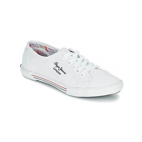 Pepe jeans ABERLADY women's Shoes (Trainers) in White