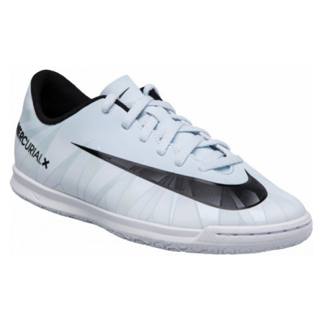 Nike MERCURIALX VOR CR7 JR white - Children's indoor football shoes
