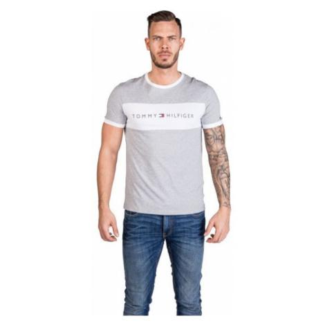 Tommy Hilfiger CN SS TEE LOGO FLAG grey - Men's T-Shirt