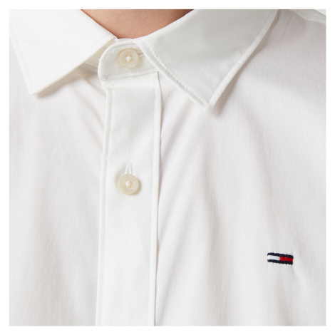 Tommy Jeans Men's Original Stretch Long Sleeve Shirt - Classic White Tommy Hilfiger