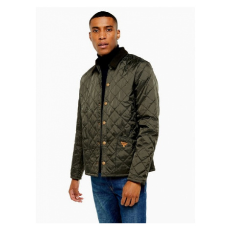 Mens Barbour Beacon Green Starling Quilted Jacket, Green