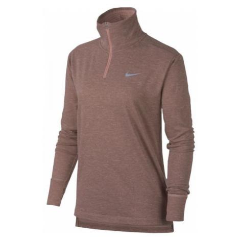 Nike THRMASPHR ELMNT TOP HZ2.0 brown - Women's running T-shirt