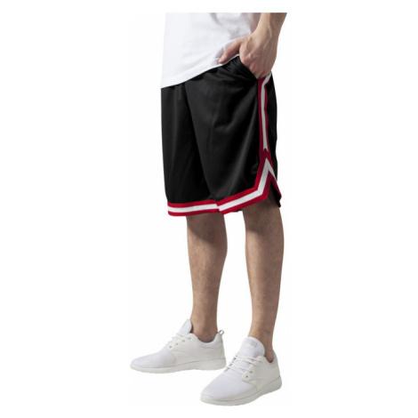 Urban Classics Stripes Mesh Shorts blkredwht