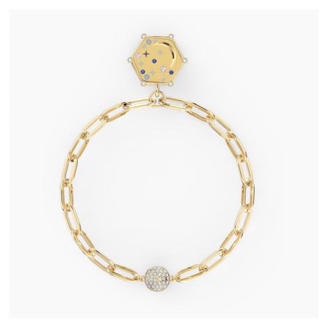 The Elements Moon Bracelet, Blue, Gold-tone plated Swarovski