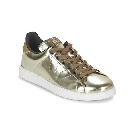 Victoria DEPORTIVO BASKET METALLISE women's Shoes (Trainers) in Gold