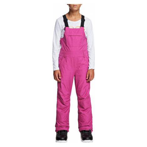 pants Roxy Non Stop Bib - MML0/Beetroot Pink - girl´s