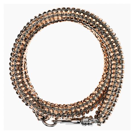 Skinny Double Bolster Bracelet, Palladium plated Swarovski