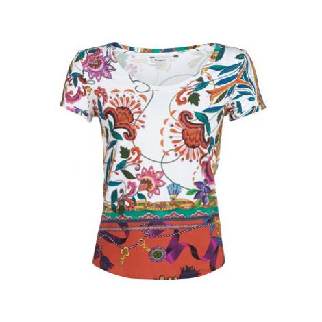 Desigual LEONOR women's T shirt in White