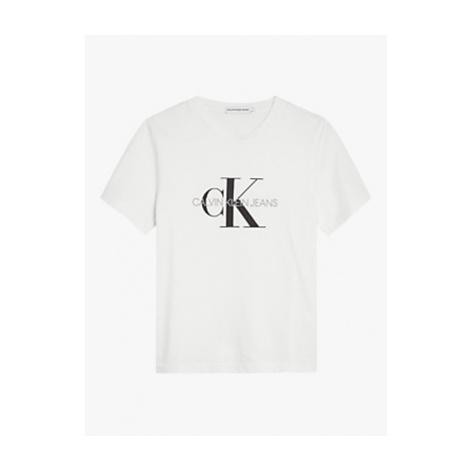 Calvin Klein Boys' Organic Cotton Monogram Logo T-Shirt, Bright White