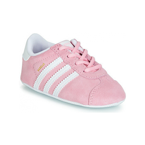 Adidas GAZELLE CRIB boys's Children's Shoes (Trainers) in Pink