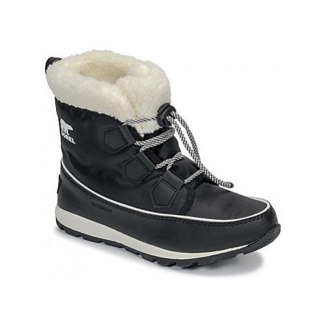 Sorel YOUTH WHITNEY CARNIVAL girls's Children's Snow boots in Black