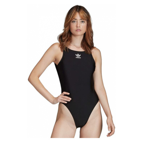 swimsuit adidas Originals Trefoil Swimsuit 20 - Black - women´s