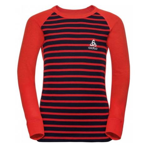 Odlo BL TOP CREW NECK L/S ACTIVE WARM KIDS red - Children's long sleeve T-shirt