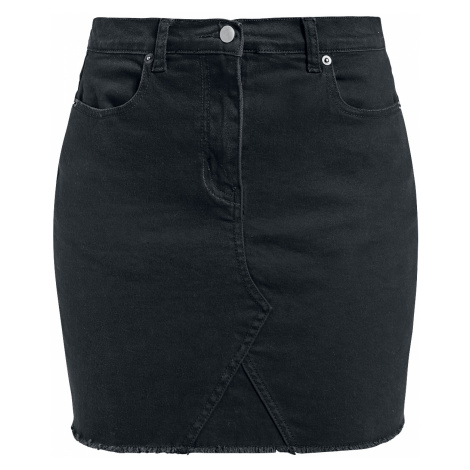 Forplay - Fringe Denim Skirt - Skirt - black