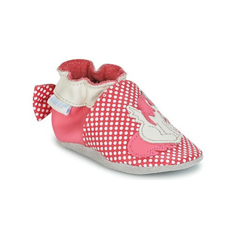 Robeez PINK UNICORN girls's Baby Slippers in Pink