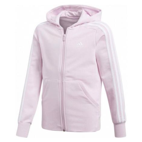 adidas ESSENTIALS 3 STRIPES FULL ZIP HOODIE pink - Girls' sweatshirt