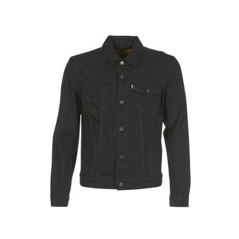 Levis THE TRUCKER JACKET men's Denim jacket in Black Levi´s