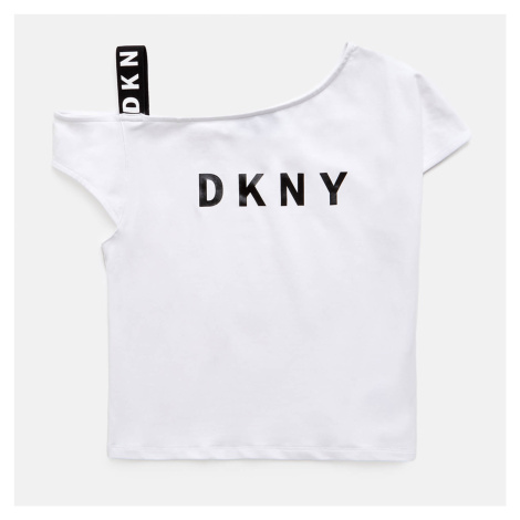 DKNY Girls' Off The Shoulder T-Shirt - White