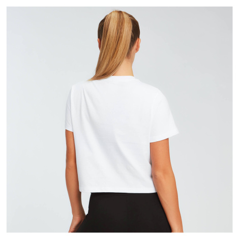 MP Women's Essentials Crop T-Shirt - White Myprotein