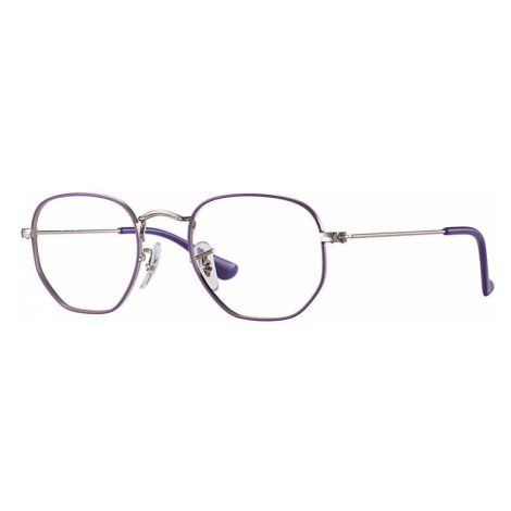 Ray Ban Hexagonal junior optics Unisex Optical Lenses: Multicolor, Frame: Silver - RB9541V 4061