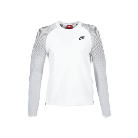 Nike TECH FLEECE CREW women's Sweatshirt in White