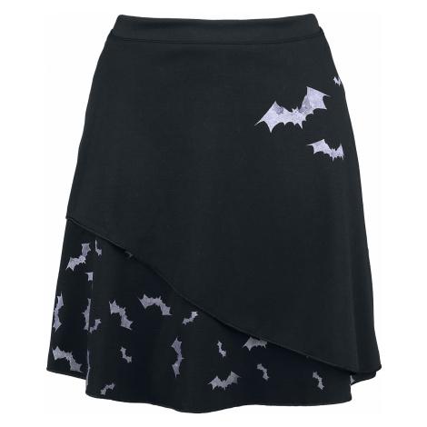 Outer Vision - Pastel Bats - Mini skirt - black