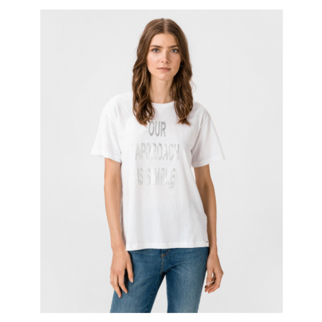 GAS Francys Written T-shirt White