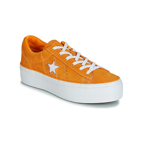 Converse ONE STAR PLATFORM SUEDE OX women's Shoes (Trainers) in Orange