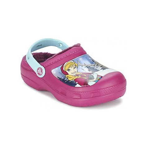 Crocs CC FROZEN LINED CLOG girls's Children's Clogs (Shoes) in Purple